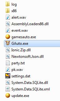 Thư mục GAuto hoàn chỉnh phải đầy đủ những files này